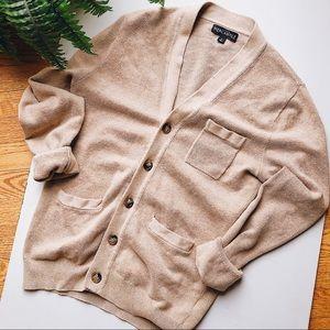 J.Crew Mercantile tan cardigan size small